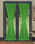 Kelly Green French Door Curtains