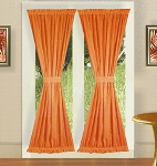 Orange French Door Curtains