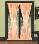 Peach French Door Curtains