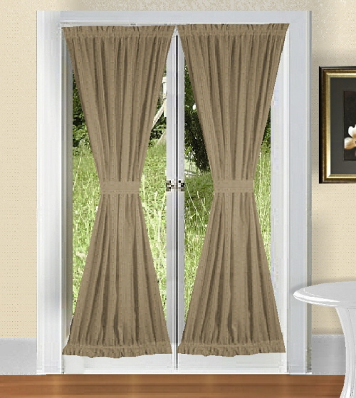& Taupe French Door Curtains Pezcame.Com