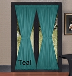 Teal French Door Curtains
