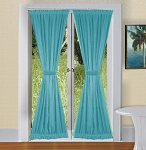 Turquoise French Door Curtains