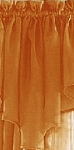 Orange Sheer Curtain Panels