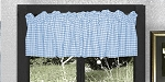 Blue Gingham Window Valance