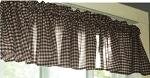 Brown Gingham Window Valances