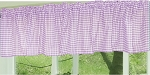 Light Purple Gingham Window Valances