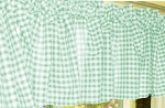 Mint Green Gingham Window Valance