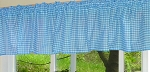 Turquoise Gingham Window Valances