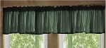 Dark Forest Green Window Valance