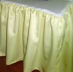Queen Yellow Satin Dustruffle Bedskirt