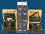Pair Dueling Piano Bookends