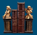 Thinking Cherub Bookends