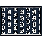 Detroit Tigers Repeat Logo Area Rug