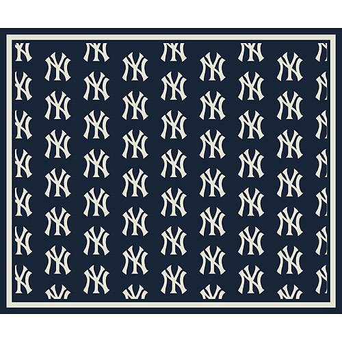 New york yankees repeat logo area rug for Area rugs new york