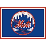 New York Mets Team Logo Area Rug
