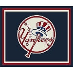 New York Yankees Team Logo Area Rug