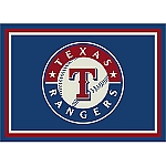 Texas Rangers Team Logo Area Rug