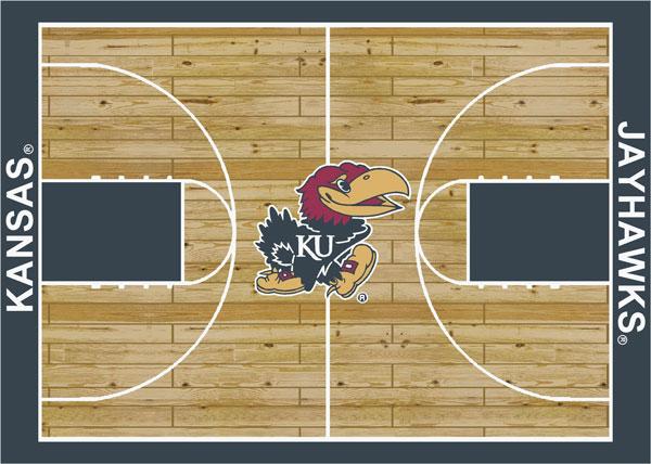 Kansas Jayhawks Home Court Area Rug