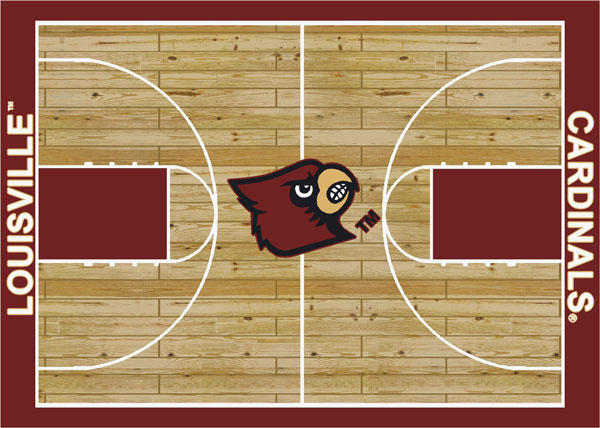 Louisville Cardinals Home Court Area Rug