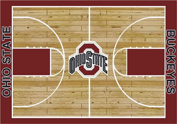 Ohio State Buckeyes Home Court Area Rug
