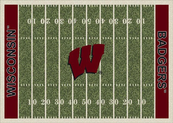 Wisconsin Badgers Home Field Area Rug