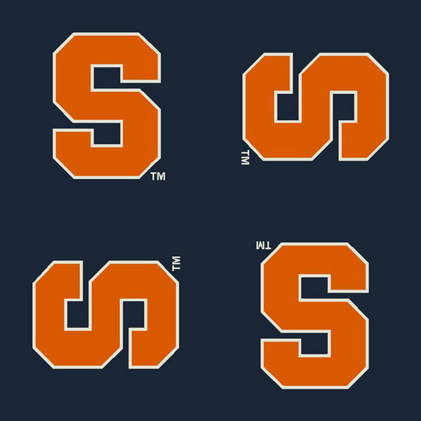 Syracuse Orange Repeat Logo Area Rug