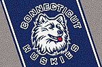 Connecticut Huskies Team Logo Area Rug