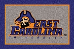 East Carolina Pirates Team Logo Area Rug