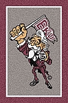 Eastern Kentucky Colonels Team Logo Area Rug