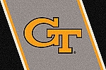 Georgia Tech Yellow Jackets Team Logo Area Rug