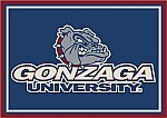 Gonzaga Bulldogs Team Logo Area Rug