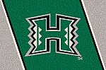 Hawaii Warriors Team Logo Area Rug