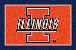 Illinois Fighting Illini Team Logo Area Rug
