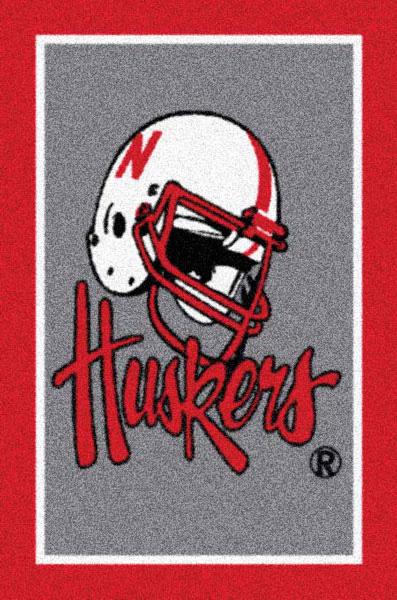 Nebraska Cornhuskers Alternate Team Logo Area Rug