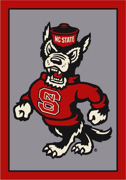 North Carolina State Wolfpack Alternate Team Logo Area Rug