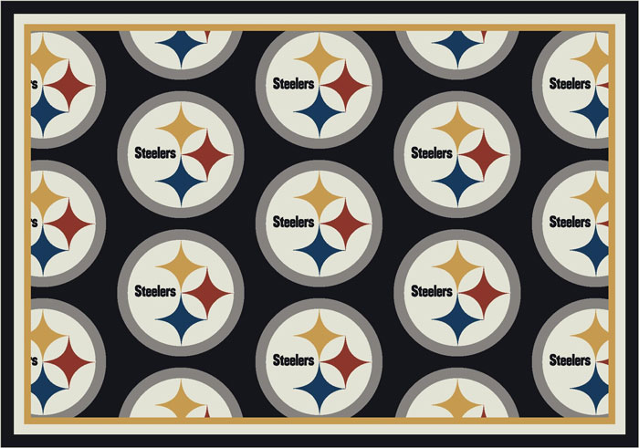 Pittsburgh Steelers Repeat Logo Area Rug 2
