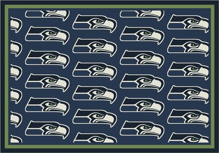 Seattle Seahawks Repeat Logo Area Rug