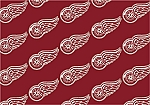 Detroit Redwings Repeat Logo Area Rug