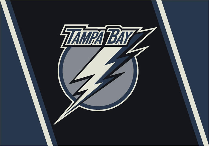 Tampa Bay Lightning Team Logo Area Rug