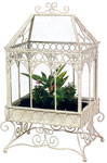 Charleston Distressed White Terrarium