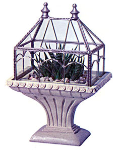 Small Metal And Glass Terrarium