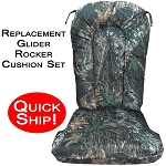Quick Ship! Glider Rocker Cushion Set - Mossy Oak New Breakup Camouflage