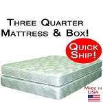 Quick Ship! Three Quarter Good Mattress & Box Foundation, Best Mattress For Back