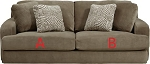 Jackson® Palisades Bronze 418603 Sofa or 418602 Love Seat Replacement Cushion Cover
