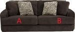 Jackson® Palisades Chocolate 418603 Sofa or 418602 Love Seat Replacement Cushion Cover