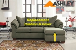Ashley® Darcy replacement chaise cushion and cover, 7500318 Sage