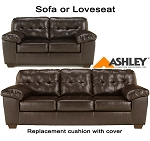Ashley® Alliston Chocolate replacement cushion and cover, 2010138 sofa or 2010135 love