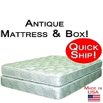 Quick Ship! Antique Size Abe Feller® Mattress Set GOOD