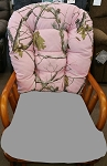 Pink Camouflage Glider Rocker (Back Cushion Only) for Bedazzle Chair