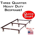 Quick Ship! Three Quarter Size Heavy Duty Bed Frame